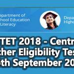 CTET 2018 - Central Teacher Eligibility Test on 16th September 2018