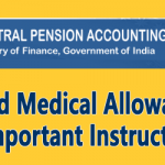 Fixed Medical Allowance – Important Instruction