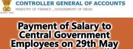 Salary on 29th May 2018 due to Bank Strike – CGA Order