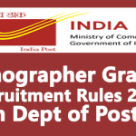 Stenographer Grade-I Recruitment Rules 2018 in Dept of Posts
