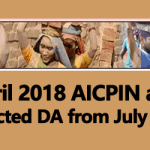 April 2018 AICPIN and Expected DA from July 2018
