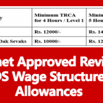 Cabinet Approved Revision of GDS Wage Structure and Allowances