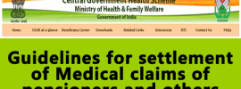 Guidelines for settlement of Medical claims of pensioners and others