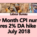 May Month CPI number DA hike from July 2018