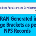 PRAN Generated in Age Brackets as per NPS