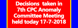 7th CPC Anomaly Committee Meeting Decisions