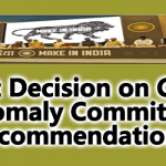 Govt Decision on CPSE Anomaly Committee Recommendations