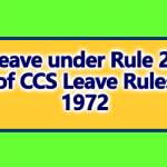 Leave under Rule 20 of CCS Leave Rules 1972