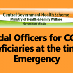 Nodal Officers for CGHS Beneficiaries at the time of Emergency