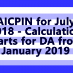 AICPIN for July 2018 - Calculation starts for DA from January 2019