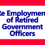 Re Employment of Retired Government Officers
