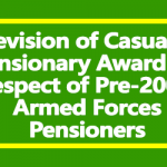 Revision of Casualty Pensionary Awards - PCDA Circular 604