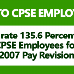 DA rate 135.6 Percent to CPSE Employees for 2007 Pay Revision