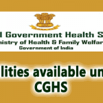 Facilities available under CGHS