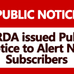 PFRDA issued Public Notice to Alert NPS Subscribers