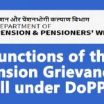 Functions of the Pension Grievances Cell under DoPPW