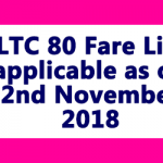 LTC 80 FARE LIST FROM 2ND NOVEMBER 2018