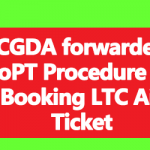 CGDA forwarded DoPT Procedure for Booking LTC Air Ticket