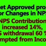 Cabinet Approved proposal for Changes in NPS