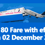 LTC 80 Fare with effect from 02 December 2018