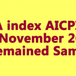 DA index AICPIN for November 2018 Remained Same