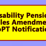 Disability Pension Rules Amendment DoPT Notification