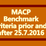 MACP Benchmark criteria prior and after 25.7.2016