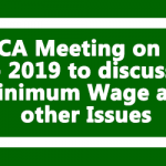 NJCA Meeting on 8th Feb 2019 to discuss on Minimum Wage and other Issues
