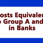 Posts Equivalent to Group A and C in Banks