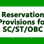 Reservation Provisions for SC, ST, OBC