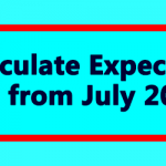Calculate Expected DA from July 2019