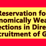 Reservation for Economically Weaker Sections in Direct Recruitment of GDS
