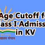 Age Cutoff for Class I Admission in KV