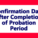 Confirmation Date after Completion of Probation Period