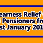 Dearness Relief to CG Pensioners from 1st January 2019