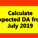 Expected DA from July 2019