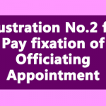 Illustration No.2 for Pay fixation of Officiating Appointment under FR 35