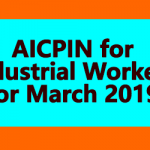 AICPIN for Industrial Workers for March 2019