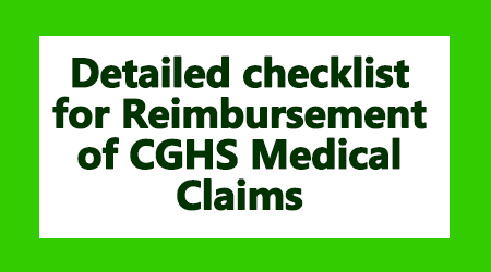 Detailed checklist for Reimbursement of Medical Claims