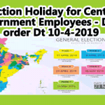 Election Holiday for Central Government Employees - DoPT order