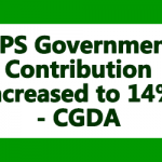 NPS Government Contribution increased to 14 Percent- CGDA