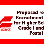 Proposed revised Recruitment Rules for Higher Selection Grade I and II in Postal