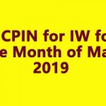 AICPIN for IW for the Month of May 2019