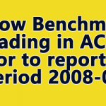 Below Benchmark grading in ACRs prior to reporting period 2008-09