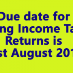 Due date for filing Income Tax Returns is 31st August 2019