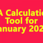 DA Calculation tool for January 2020