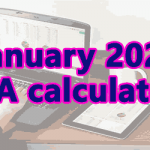January 2020 DA calculator