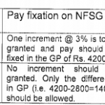 Non-Functional upgradation Pay Fixation
