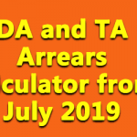 DA and TA Arrears calculator from July 2019
