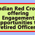 Indian Red Cross offering Engagement opportunities to retired Officers